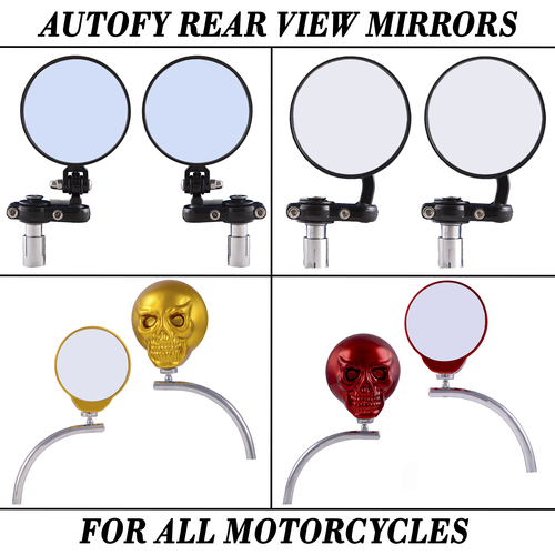 Autofy Rear View And Side Mirrors For All Motorcycles And Bike