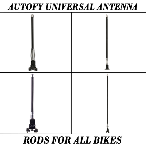 Autofy Universal Antenna Rods For All Motorcycles And Bike