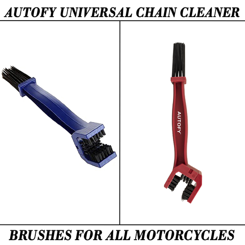 Autofy Universal Chain Cleaner Brushes For All Motorcycles And Bike