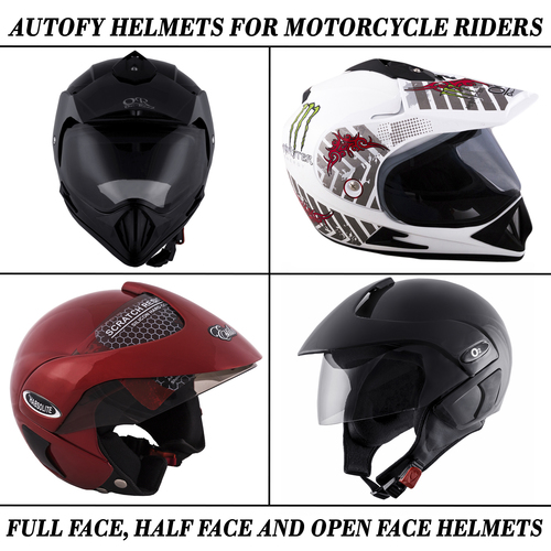 Autofy Universal Flip-Up Helmets For Motorcycle Riders