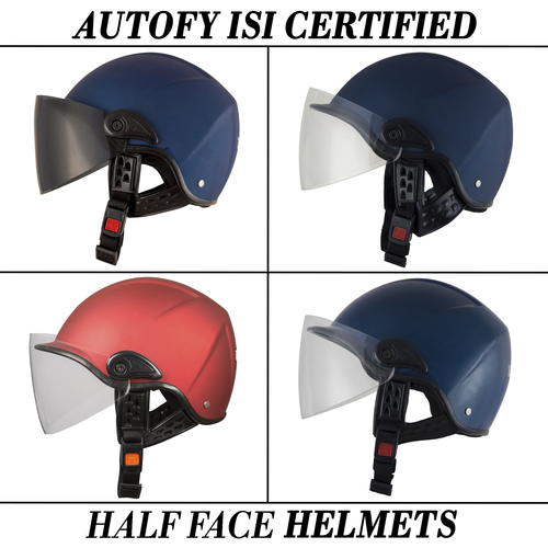 Autofy Universal Half Face Helmets For Motorcycle Riders