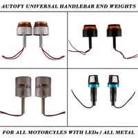 Autofy Universal Handlebar End Weights For All Motorcyles With Leds