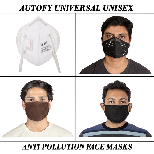 Autofy Universal Unisex Anti Pollution Face Masks