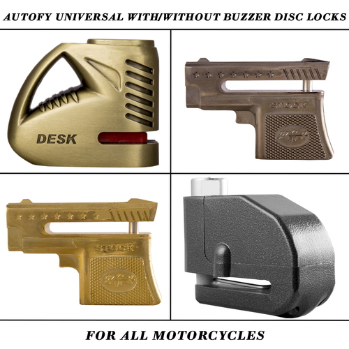Autofy Universal With And Without Buzzer Disc Locks For All Motorcycle And Bike