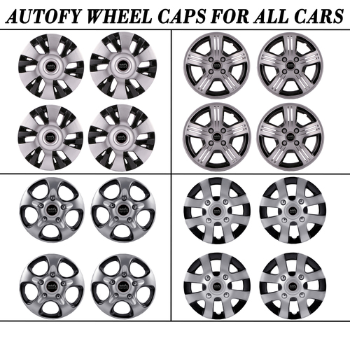 Autofy Wheel Caps For All Cars Snap On And Lug Nut Fitting