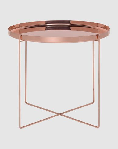 Round Copper Metal Table