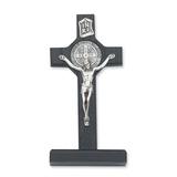 Beautiful Wood Cross With Silver Brass Crucifix