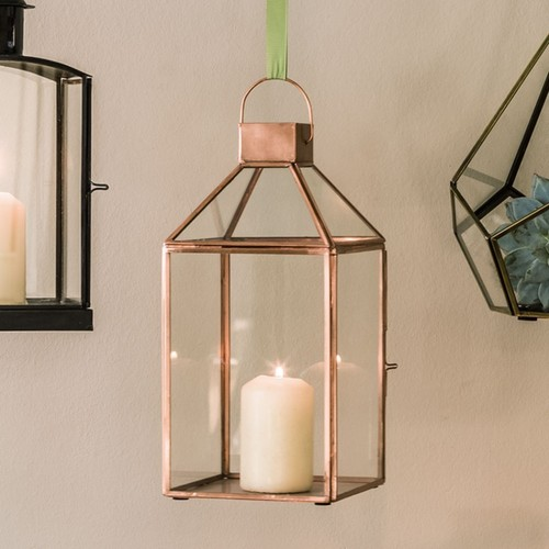 Brass Glass Hanging Lantern