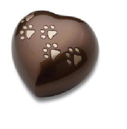 Brown Heart keepsake Pet Urns
