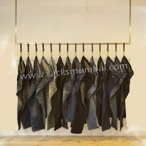 Wall Mounted Denim Display Rods