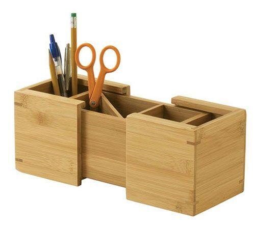 Decorative Multi Boxes Wooden Pen Holder