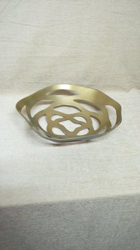 Perforated Fruit Bowl in Brass Antique Finish in  Ibrahim Market