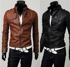 Leather Look Stylish Mens Jackets