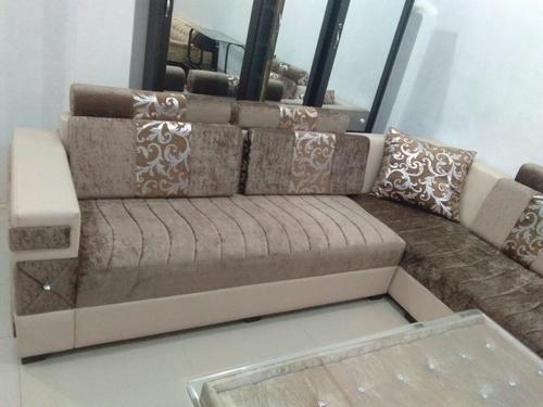 L Shaped Sofa Set - WOODEN ART & FURNITURE, BAIJNATH PARA ...