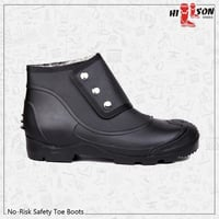 No Risk Button Safety Boots