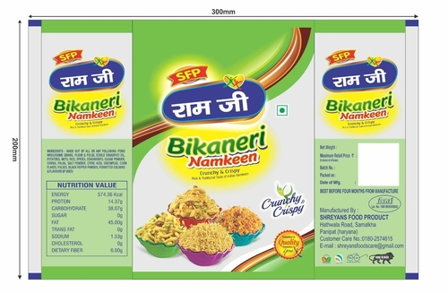 Printed Namkeen Flexible Packaging Pouches