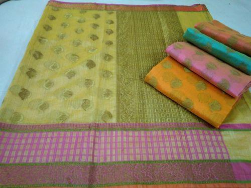 Designer Banarasi Cotton Antique Boota Sarees