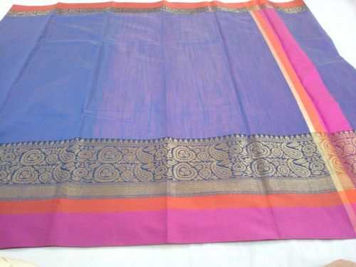 Designercotton Plain Sarees in   Madanpura