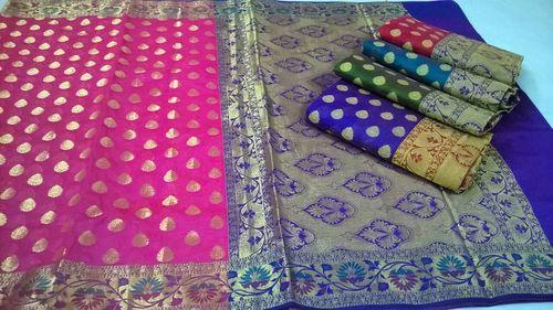 Fancy Chanderi Silk Sarees