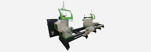 CNC controlled double mitre saw
