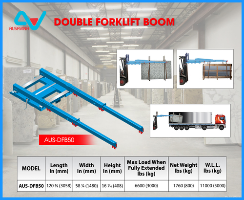 Double Forklift Boom