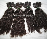 Machine Wefted Curly Hair