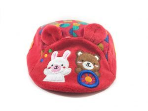Kids Red Cotton Caps (For Upto 2 Yrs Old)