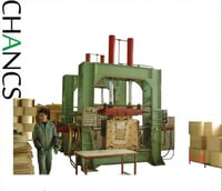3D hot pressure high frequency plywood bending press