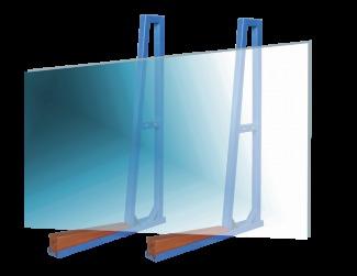 Single Sided A-Frame Storage Racks