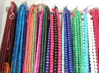 Faceted Multi Color Glass Beads