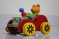 Walk A Along Wooden Cute Puller With Drum Sound