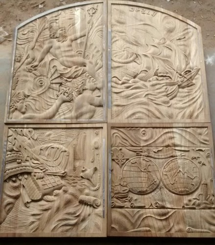 Hand Carved Teak Wood Panels