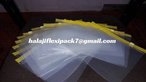 Plastic Slider Zipper Bags