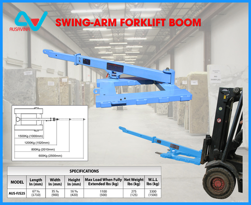 Swing Arm Forklift Boom Ausavina