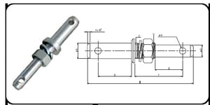 Double Implements Mounting Pin