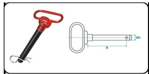 Red Handle Hitch Pin