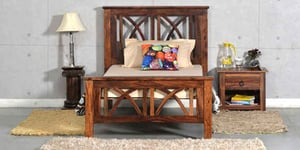 Handcrafted Single Bed