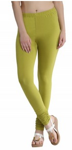 Natural Green Chudidar Leggings