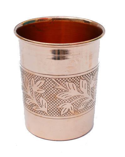 Indian Craftio Pure Copper Embossed Glass