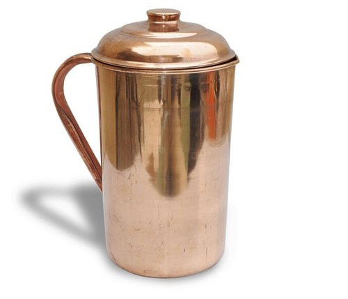 Indian Craftio Pure Copper Plain Water Jug