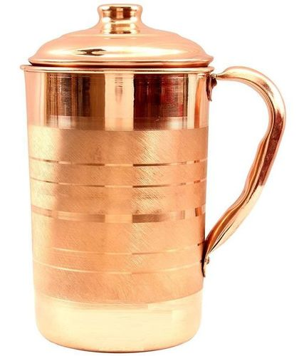 Indian Craftio Pure Copper Silver Touch Jug
