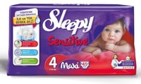 Sleepy Baby Diapers And Wet Tissues