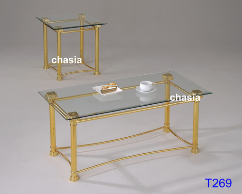 Metal Glass Coffee Table