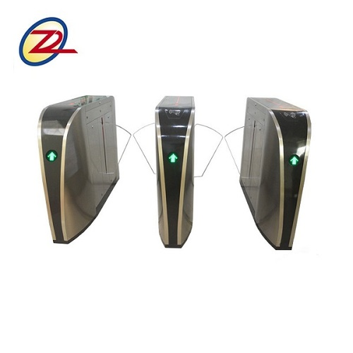 Stainless Steel Black Paint Office Electric Flap barrier Control By Rfid Reader