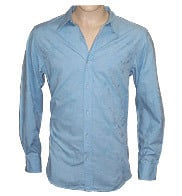 Cotton Chambray Jacquard Mens Shirts