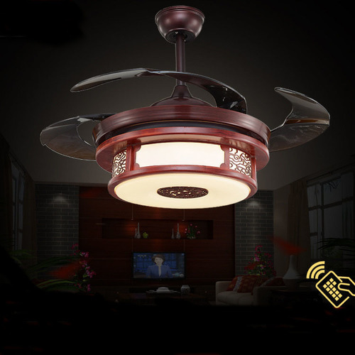Three Colors LED Ceiling Lamp With Invisible Fan