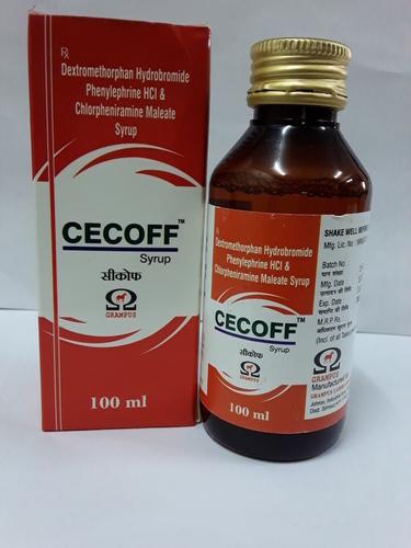Dextromethorphan Hydrobromide Phenylpherine HCL And Chlorpheniramine Maleate Syrup
