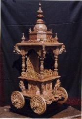 Wooden Carved Chariot