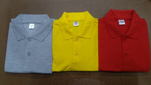Polo Neck T-Shirts in  4-Sector