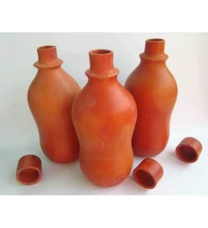 Ayurveda Cool Clay Water Bottle